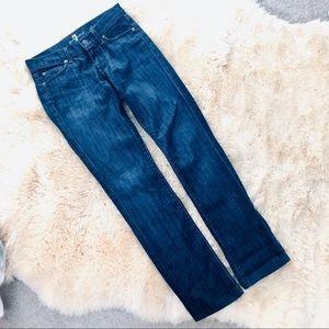 7 For All Mankind straight leg denim blue jeans 25